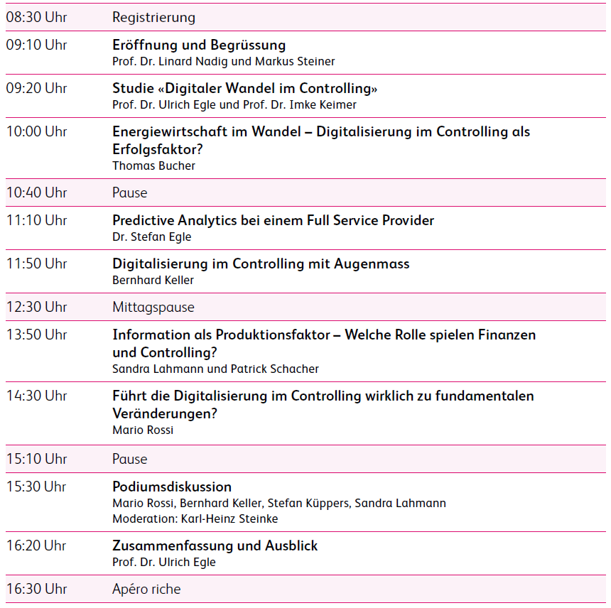 Programm der Controlling Konferenz_2017