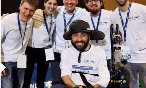 HSR Enhanced: Goldmedaille für Pilot Florian Hauser mit Team HSR enhanced bei der Cybathlon Wheelchairs Series am 5. Mai 2019 in Japan