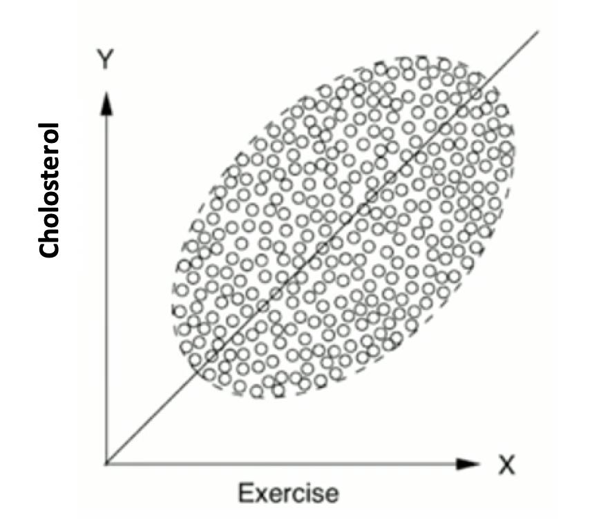 Abhängigkeit der Cholesterin-Spiegels von sportlichen Aktivitäten nach